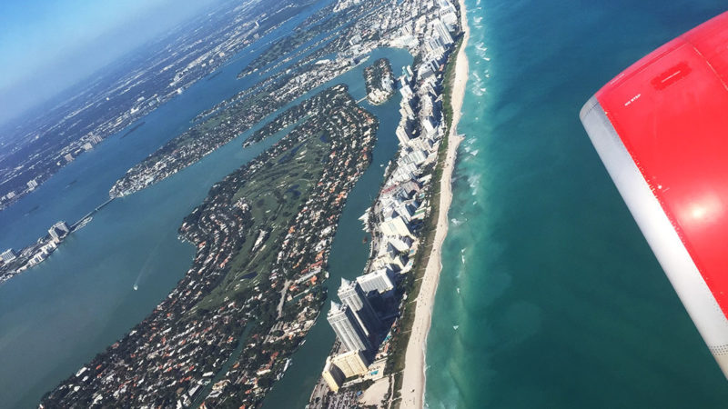 Anflug Miami Beach