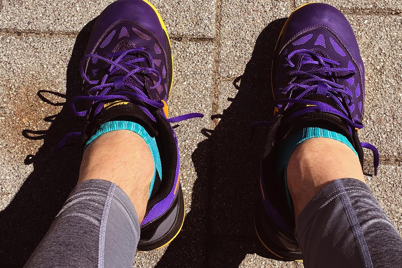 Laufen - knallige Farben bei Laufschuhen